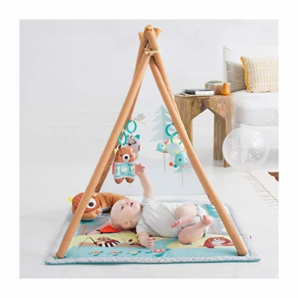 Skip Hop Baby Infant and Toddler Camping Cubs Activity Gym and Playmat Multi