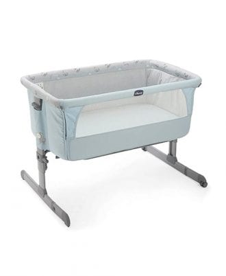 Chicco next to me Bed-side Crib - Sky blue